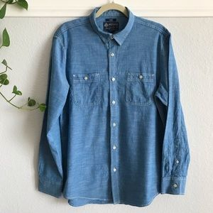 Denim Button Down Casual Shirt